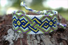 Bright Weaving Diamond Friendship Bracelet by delightfullycreated7