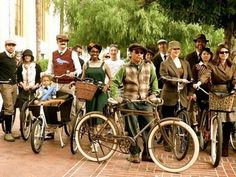 Tweed rides - people ride old bikes and wear old timey clothes.  Totally charming, except I would want a helmet.