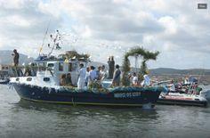 processione a mare della Madonna di Bonaria.