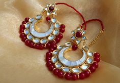 RED BEAD CHANDBALA by designer Bubbles Jewellery from sobayha.com. An…