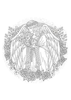 An angel for the coloring, From the gallery : Myths & Legends, Artist : Kchung