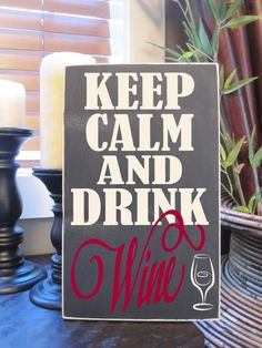 Keep Calm and Drink Wine, Keep Calm, Wine, Drink, Subway, Art, Typograpy, Style HM21. $20.00, via Etsy.