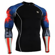 aefa7399fae1 FIXGEAR CPD-B37 COMPRESSION BASE LAYER SHIRTS Workout Gear For Men