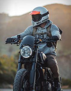 Ducati Scrambler By Gorm Ducati Scrambler Custom, Scrambler Motorcycle, Motorcycle Helmets, Custom Motorcycles, Motorcycle Dirt Bike, Motorcycle Backpacks, Motorcycle Outfit, Biker Photography, Street Bikes