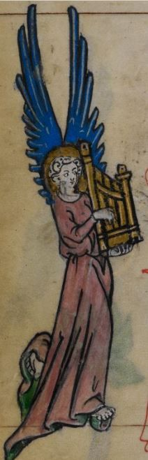 MusicArt Detail from medieval manuscript, British Library Stowe MS 17 'The Maastricht Hours' f22v