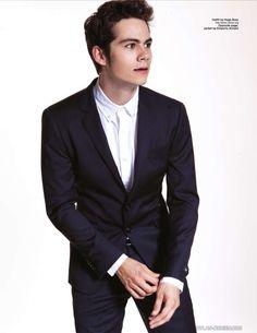 He's in a suit