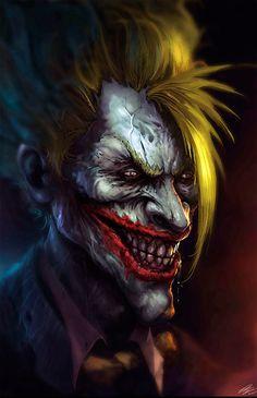 I'm not a fan of Batman series, but I always liked this bad guy, specially the comic version (I hate the joker versions in movies). The Joker Joker Dc, Joker And Harley Quinn, Joker Comic, Joker Kunst, Dc Comics, Clown Tattoo, Joker Tattoos, Joker Images, Joker Wallpapers