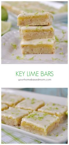 Key Lime Bars are amazing the day you make them but even more amazing the next day! @yourhomebasedmom.com