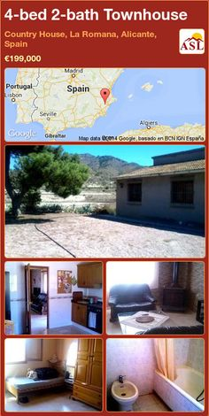 4-bed 2-bath Townhouse in Country House, La Romana, Alicante, Spain ►€199,000 #PropertyForSaleInSpain
