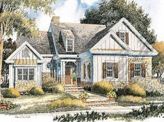 Cottage House Plan with 1735 Square Feet and 2 Bedrooms(s) from Dream Home Source | House Plan Code DHSW53253
