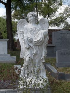cemeteries~the older the better Cemetery Angels, Cemetery Statues, Cemetery Headstones, Old Cemeteries, Cemetery Art, Angel Statues, Graveyards, I Believe In Angels, Angels Among Us