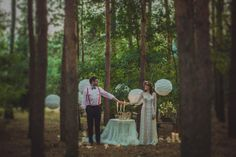 wild wood, handmade paper lanterns covered with lace, candle lights in jars