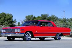 Sold* at Scottsdale 2017 - Lot #963 1963 CHEVROLET IMPALA CUSTOM COUPE Chevrolet Impala 1963, Chevrolet Bel Air, 70s Cars, Good Looking Cars, Chevy Girl, Impalas, General Motors, Muscle Cars, Vintage Cars