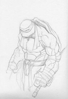 Raphael Sketch by GavinMichelli on DeviantArt Ninja Turtle Drawing, Turtle Sketch, Ninja Turtles Art, Art Drawings Sketches, Cartoon Drawings, Cool Drawings, Comic Books Art, Comic Art, Comic Book Artists