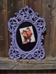 Lavender Decorative Baroque Style Framed Magnet Board for office