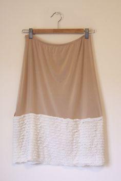 Ruffles added to a slip make skirt extenders!