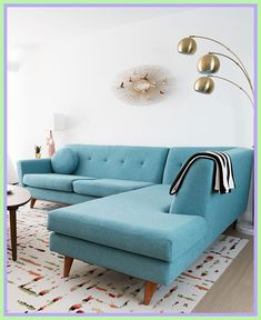 Finding Colorful Midcentury Living Room Decor With Turquoise Sofa 00111 - decorurge Dream Furniture, Types Of Furniture, Quality Furniture, Custom Furniture, Contemporary Furniture, Home Furniture, Furniture Design, Furniture Deals, Contemporary Design