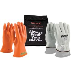 PIP Work Gloves on sale at Full Source! Order the PIP Novax Class 00 Electrical Safety Kit online or call Best Work Gloves, Safety Kit, Team Jackets, Electrical Safety, Rain Suit, Knitted Gloves, Arc Flash, Raincoat, Bomber Jacket