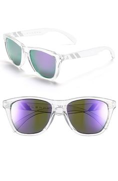 Free shipping and returns on Blenders Eyewear 'Natty Ice' 68mm Sunglasses at Nordstrom.com. Screwless ball-hinges ensure a comfortable fit in classic surfer-style sunglasses designed with clear frames and cool, purple-tinted mirror lenses.