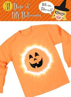 DIY Halloween : DIY Halloween Jack-O-Lantern Shirt DIY Halloween Decor