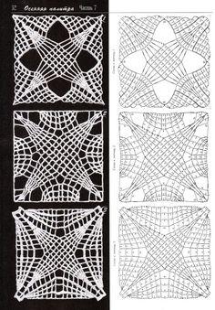 Square openwork motifs / ażurowe motywy kwadratowe 1