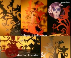 halloween, idee, portafoto, photo, paper