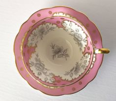 Pink EB Foley Tea Cup and Saucer by NicerThanNewVintage on Etsy https://www.etsy.com/listing/399442891/pink-eb-foley-tea-cup-and-saucer