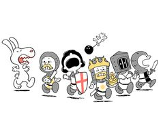 Run Away! Run Away! A great combination of Peanuts and Monty Python. Designed by queenmob and available for sale at http://www.teefury.com/gallery/2192/Run_Away__Run_Away_/