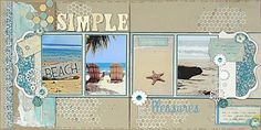 Scrapbook Page - Double Page MultiMedia Beach