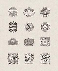 Intricate Vintage Logo Designs by Joe White