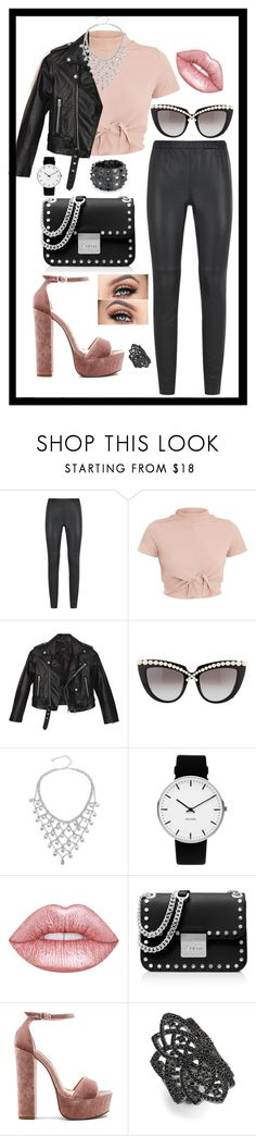 """""""Untitled #472"""" by rockinstyles ❤ liked on Polyvore featuring MICHAEL Michael Kors, Nasty Gal, Anna-Karin Karlsson, Rosendahl, Lime Crime, Steve Madden, Noir and Bling Jewelry"""