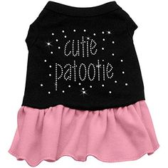 Rhinestone Cutie Patootie Dress Black with Pink Lg (14) -- Want additional info? Click on the image(It is Amazon affiliate link). #tagblender