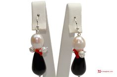 #Trendy #Earrings red #Coral #Pearls black #Agate in 925 Silver #Orecchini #Trendy #Corallo rosso #Perle #Agata nera in Argento 925 #jewelery #luxury #trend #fashion #style #italianstyle #lifestyle #gold #silver #store #collection #shop #shopping #showroom #mode #chic #love #loveit #lovely #style #beautiful #pretty #madeinitaly #bestoftheday #Earrings #earringsforsale