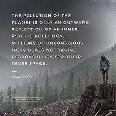 Eckhart Tolle on inner and outer pollution
