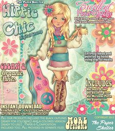Hippie Chic - Digital Stamp http://www.thepapershelter.com/index.php?main_page=product_info&cPath=1&products_id=360