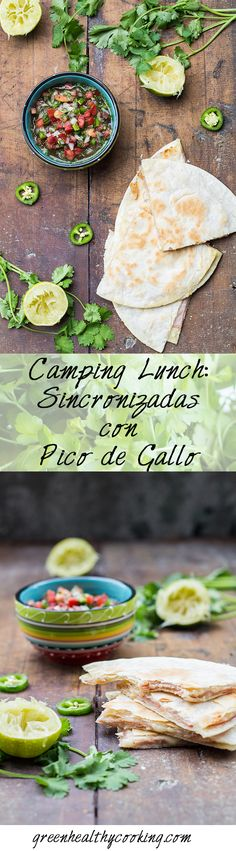 Camping Lunch: Sincronizadas con Pico de Gallo