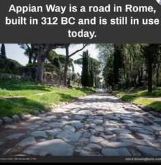 Cool Places To Visit, Places To Travel, Beautiful World, Beautiful Places, Appian Way, Teaching Memes, Mind Blowing Facts, Great Inventions, Wtf Fun Facts
