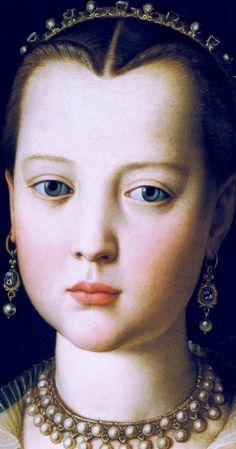 Virginia,daughter of Cosimo I de Medici,c.1550 by Angolo Bronzino - Click to enlarge