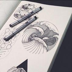 Tsunami by Roma Severov #tsunami #sea #mar #illustration #design #dibujo #drawing