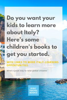 children's books about Italy that will help you plan your next family trip Travel With Kids, Family Travel, Children's Books, Good Books, Italy For Kids, Italy Pictures, World Of Books, Happy Reading, Popular Books