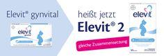 Elevit® Gynvital heißt jetzt Elevit® 2 #elevit #kinderwunsch #gynvital #bayer #baby #kind #gesund #schwangerschaft #geburt #folat #jod #eisen #zink #vitamine #ernährung