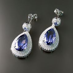 Make mom sparkle this Mother's Day with these elegant imitation Tanzanite CZ earrings. Jewelry mom is sure to love.