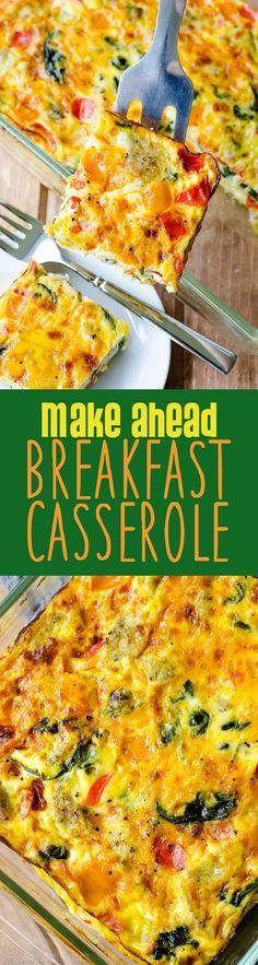 Make Ahead Breakfast Casserole: This sausage, vegetable, and egg casserole can be frozen or made a day in advance for easy entertaining. Completely customizable and great for feeding a crowd! white christmas,breakfast and brunch Make Ahead Breakfast Casserole, Breakfast Desayunos, Breakfast Dishes, Breakfast Recipes, Breakfast Ideas, Brunch Ideas, Frozen Breakfast, Brunch Casserole, Sausage Casserole