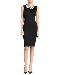 St. John Collection Crocodile Jacquard Knit Dress, Caviar Shimmer $1200#photoshoot #wardrobe ideas for #monicahahn #Photography