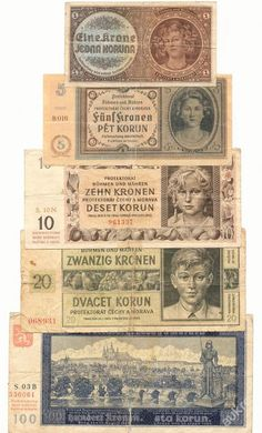 bankovky Old Money, Commemorative Coins, Old Coins, Europe, Stamp, Colours, Retro, Antiques, Paper