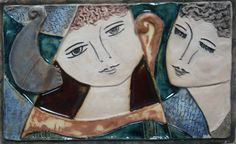 Love and Family:  The Ceramic Relief Tiles of Israeli Artist Ruth Faktor