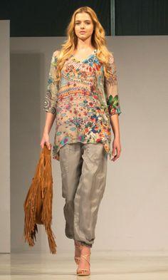 Johnny Was Clothing Fashion Show Scottsdale Fan Fest - Tani V-Neck Tunic
