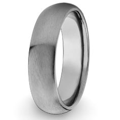 Domed Brushed Titanium Ring (7mm) - Sizes 5 - 13 West Coast Jewelry. $25.95