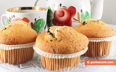 The Recipe for Honey Muffins with Chocolate Shavings | Baked Goods | Genius cook - Healthy Nutrition, Tasty Food, Simple Recipes