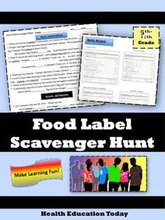 """This is my best selling lesson!This product is also the #1 best selling Health lesson in all the high school resources onTPT!----------------------------------------------------------------------------It's perfect for any 5th -12th grade group of students, and it meets 3 Common Core Standards too.It's part of my """"Favorite Lessons Series"""" (See links below). Nutrition Education, Education Today, Nutrition Classes, Health And Nutrition, Health And Wellness, Nutrition Activities, Nutrition Shakes, Nutrition Guide, Nutrition Plans"""